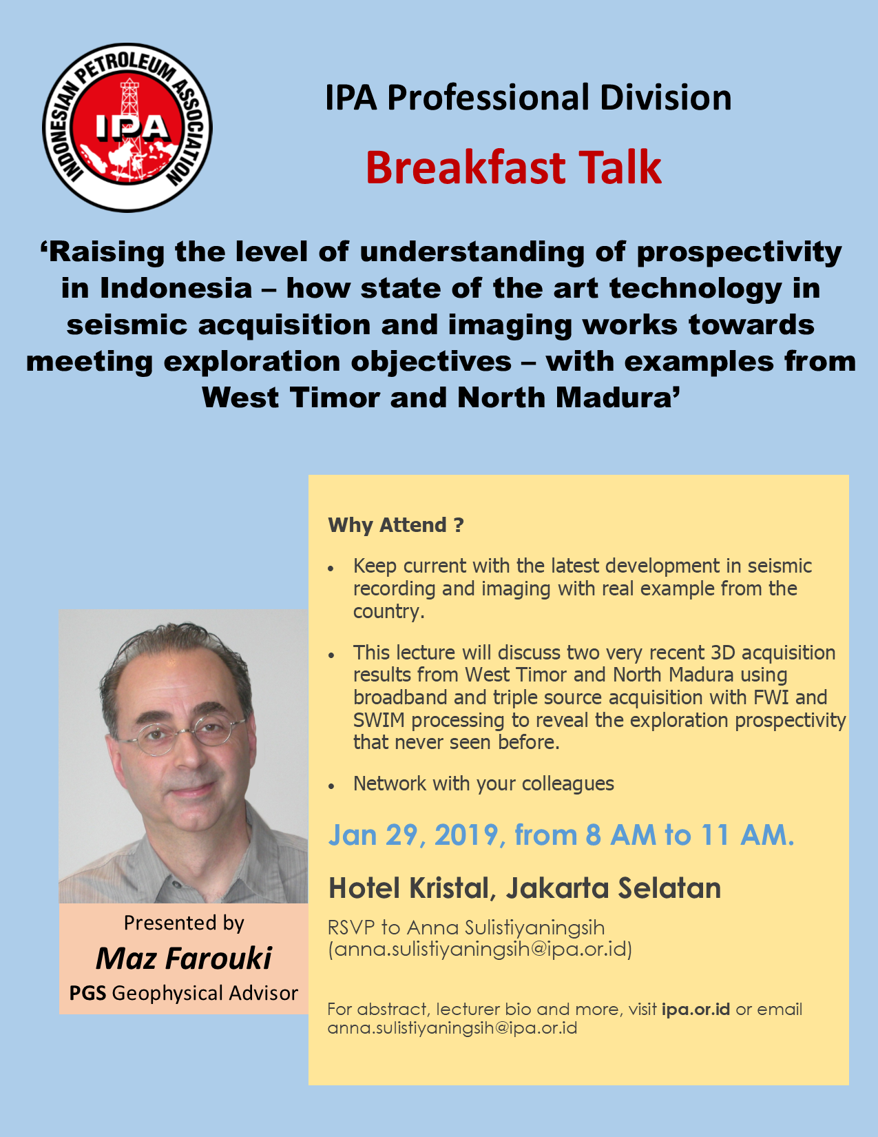 Breakfast Talk - IPA Professional Division